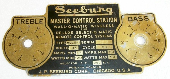 Seeburg Wall-O-Matic Escutcheon